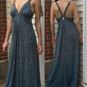 Gypsy 05 Ombre Blue Paisley Maxi Dress